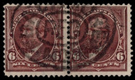 "# 271a F/VF, Pair, w/Crowe (10/20) CERT, sound pair with clear ""R"" straddling both stamps, ONLY KNOWN ATTACHED PAIR, UNLISTED VALUE AS A PAIR! (a pair and trio are around but perfs are rejoined, so not a legit multiple), STELLAR SHOWPIECE!"