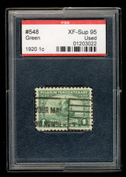# 548 XF-SUPERB, w/PSE (GRADED 95, ENCAPSULATED), a lovely stamp in an uncommon grade, VERY RARE!