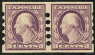 # 483v SUPERB OG NH, Pair, Mailometer Company Private Perfs, Type IV, SELECT MINT PAIR!