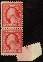 # 499 F/VF OG H, Pair with extra corner margin and initial's, Neat Freak!
