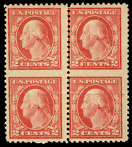 # 499 VF OG H, Block, looks imperf between, blind perf shifted, Neat Freak!