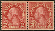 # 599A XF-SUPERB OG H, Line Pair, extremely well centered, tough to find this nicely centered, Fresh!