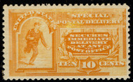 #E 3 VF/XF OG NH, intense yellow color, SUPERIOR STAMP