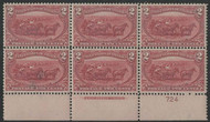 # 286 VF/XF OG VLH, Plate Block of 6, super fresh color!