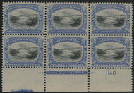 # 297 F/VF OG LH, fresh color, well centered, Nice Plate
