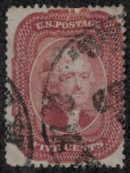 #  27 F/VF, brick red color, small flaw, NICE!