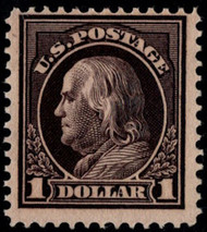 # 423 F/VF OG VLH, w/PF (08/00) CERT (copy from a block), bottom right stamp,  super color, Nice!