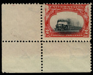 "# 295 F/VF OG NH, ""VERY LOW TRAIN"". Corner margin single,   SHOWPIECE!"