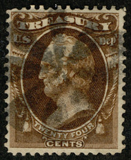 """#O 80 VF, Bold circle of """"V's"""", socked on the nose cancel, VERY NICE!"""