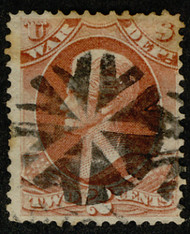 """#O 84 VF, Bold circle of """"V's"""", socked on the nose cancel, VERY NICE!"""
