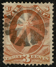 """#O 85 Fine+, Bold circle of """"V's"""", socked on the nose cancel, VERY NICE!"""