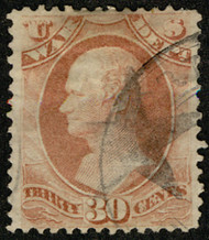 #O 92 F/VF, Bold star cancel, socked on the nose, VERY NICE!