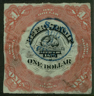 #REA 35 VF, very colorful, nice hand cancel, wrinkles,  Valued as such!
