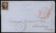 #   2 VF/XF w/APS (05/07) CERT, lovely No 2 cover to Canada, Both NY and Canada markings, SELECT!