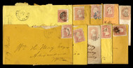 #  65 10 Covers, varies markings and cancels, see photos, flaws, Nice Group!