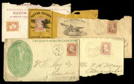 #  65 5 Advertising Covers, 5 different, see photo, some faults,  VERY NICE GROUP!