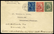 # 548 - 550 F/VF First Day Cover, nice Philly and Danville cancels, Catalogs $2250.00  VERY RARE!