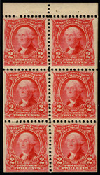 # 301c XF-SUPERB OG NH, a superb booklet pane, very fresh, surely one of the finer ones!