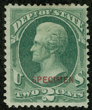 #O 58s F-VF mint no gum as issued NH, fresh color, Specimen