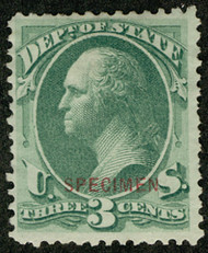 #O 59s F/VF mint no gum as issued NH, three large margins, Nice!