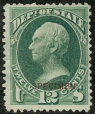 #O 63s F/VF mint no gum as issued NH, terrific color, nibbled perf, Nice Specimen!