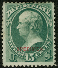 #O 64s Fine+ mint no gum as issued NH, RARE SPECIMEN, only 257 issued