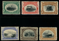 # 294 - 299 VF/XF OG LH to Hr, complete set, very well centered for this series,  CHOICE SET!