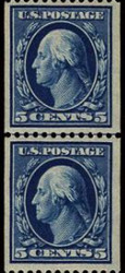 # 351 VF/XF OG NH, Line Pair, w/PF (08/91) CERT,  wonderfully rich color and superior fresh gum,  VERY RARE!