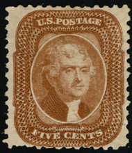#  42 VF NH no gum as issued, w/CROWE (05/21) CERT, very fresh color and well centered, small flaws,  Super Looking!