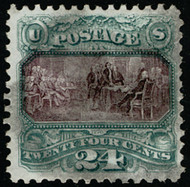 # 130 VF/XF, w/PSE (07/11) CERT, a very rare used stamp, much rarer used than Scott's value suggests,  NICE!