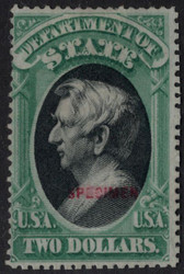 #O 68s Fine no gum as issued, NH, w/PF (08/15) CERT, only 20 known, fresh color, reperfed, Catalogs t $19000,  VERY RARE