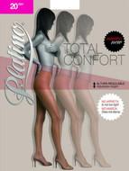 Platino Matte Finish Adjustable Waistband Pantyhose Total Comfort 20 Package