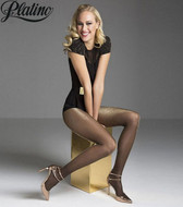 Platino Lurex Metallic Sheer to Waist 20 Denier Fashion Pantyhose