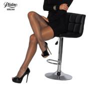 Platino Nacar Nude Sheer pantyhose tights hosiery.  Sheer toes and sheer to top color black