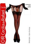 Cecilia de Rafael Barbara reinforced toe 100% nylon stockings