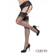 Cervin RHT polka dot Plumetis stockings black