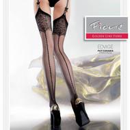 Fiore Edvige Patterned Sheer 20 Denier Garter Stockings