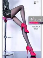 Metallic Shimmery Lurex Sheer to Waist Pantyhose Veronica 20 Denier Tights