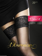 Lace Top Hold Up Stockings Milena 20 Denier Matte Finish Nylons