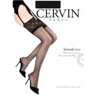 CERVIN Sensual 20 Denier Lace Top Stockings