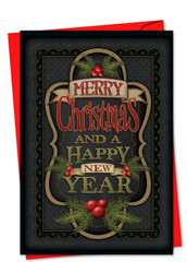 3297GXS - Chalk Up Another Holiday: Greeting Card