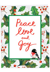 J6735HXS - Christmas Words & Birds: Extra Large Greeting Card