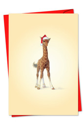 6726FXS - Christmas Zoo Babies: Printed Card