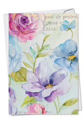 C1708AMD - Cool Blossoms: Greeting Card