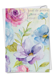 C1708ATY - Cool Blossoms: Note Card