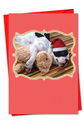 Christmas Cuddle Buddies, Printed Christmas Note Card - C6469FXS