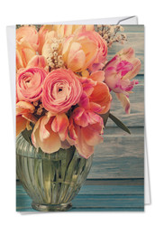 C6553FMD - Full Blooms: Printed Card