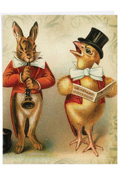 J2345AEA - Funny Bunnies: Large Note Card