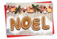6715EXS - Gingerbread Messages: Printed Card