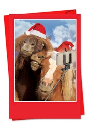 2373BXS - Holiday Animal Selfie: Greeting Card